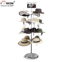 Wholesale Free Standing Metal Hat Display Stand 7-Layer Rotating Cap Rack For Retail Store from china suppliers