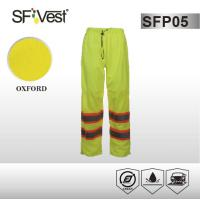 Buy cheap ANSI /ISEA 107-2010 100% polyester fabric  Work Wear Pants Reflective Safety Pants with high reflective tape from wholesalers