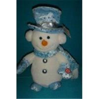 Wholesale Custom Design Christmas Gift Cute Snow Kid in Blue Clothing from china suppliers