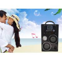 Buy cheap Electronic Gifts Classical Shape Portable Stereo Speakers Wooden USB FM PCB from wholesalers