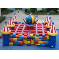 China Colourful circus big  inflatable maze sport game outdoor inflatable sport games for sale on sale