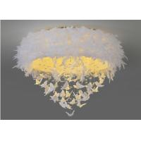 China Northern Europe Led Downlight Ceiling Light Warm Romantic Girls Bedroom White Feather on sale