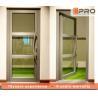 Single Pane Internal Aluminium Glass Doors For Residential House Color Optional for sale