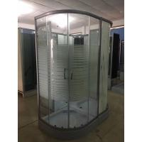 Buy cheap horizontal stripe 5m door thickness tempered glass corner shower cabin , 90 x 90 X 200 / cm from Wholesalers