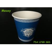 Wholesale Custom American Style 8oz Disposable Paper Cups Blue Color Printing from china suppliers