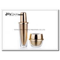 Wholesale 60 ML Capacity Plastic Lotion Jars With Bottle Inside Gold Plating Outside Transparent from china suppliers