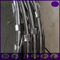 China made in china concertina cross type razor barbed wire on top fence 300,450,500,600,700mm on sale