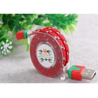 Wholesale Customized USB To Micro USB Retractable Cable , Fabric Braided Micro USB Cable from china suppliers