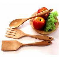 Wholesale beech Wood Utensils Tasting Spoon wood Slotted Spoon set of 3 pieces from china suppliers
