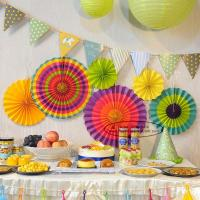 Wholesale Multicolor Paper Flower Fan Suit Inside Or Outside Door Decorations from china suppliers