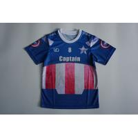 Wholesale Sublimation Mesh Dry Fit O Neck Children's Soccer Jerseys With Blue Color from china suppliers