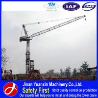 Wholesale Jinan Yuanxin supplier QTD125 good used luffing jib tower crane in dubai for sale from china suppliers