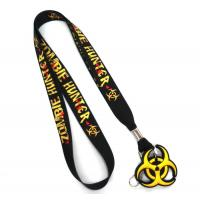 Wholesale Custom Print Heat Transfer Polyester Lanyard With PVC Rubber Hanger from china suppliers