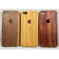 China Real Nature wood Case for iPhone 5 5S 6 6s 6Plus 7 Walnut Bamboo rosewood for sale