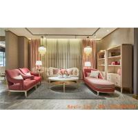 Wholesale New Classic villa house living room furniture of Wood structure sofa set with Armchair and coffee table TV stand cabinet from china suppliers