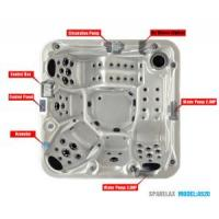 Wholesale Outdoor Massage Whirlpool SPA with Graceful Shape from china suppliers