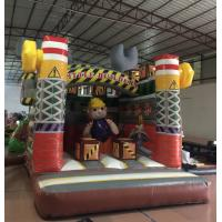 China PVC Material Inflatable Construction Themed Bounce House Size 3.5x4.5x4.5m for sale