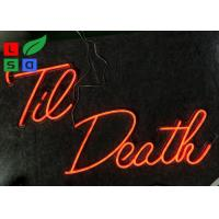 Buy cheap Window Hanging Red Color Remote Control LED Neon Illuminated Signs For Wedding, from wholesalers