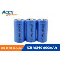 Buy cheap 16340 650mAh 3.7V li-ion battery / cylindrical rechargeable battery for LED flashlight from wholesalers