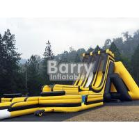 Wholesale 3 Lanes Yellow Dragon Run Malaysia Genting Inflatables Big Slide Double Triple Stitch from china suppliers