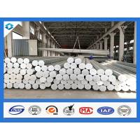 Wholesale 35FT 3mm Thick Q345 Galvanized Metal Pole Electric Steel Poles 500KGF Load from china suppliers