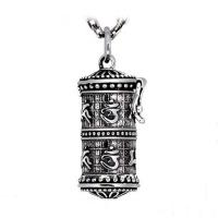 Wholesale 925 Silver Retro The Six Syllable Mantra Kwu Box Pendant Necklace for Women Men(SY11119) from china suppliers
