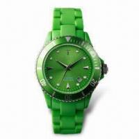Wholesale Fashionable Quartz Wristwatch with Japanese Movement, Plastic Case, Customized Designs are Available from china suppliers