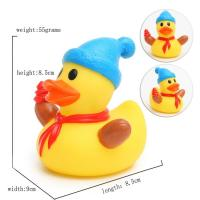 China Eco - Friendly Children Toy Collectible Rubber Ducks Christmas Ornament 7cm Height on sale