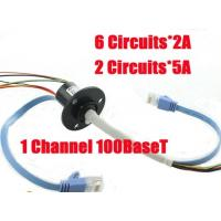 Wholesale Ethernet slip ring 1 channel 100BaseT mini OD 22mm with 6 circuits 2A+2 circuits 5A from china suppliers
