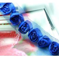 Wholesale royal blue 3D flower venise lace fabric trim sewing DIY dress cloth L358 from china suppliers