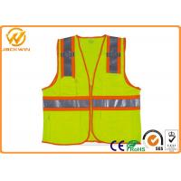 Quality Mesh High Visibility Reflective Safety Vests , Construction Worker Safety Work Vest with Pockets  for sale