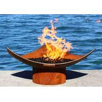 Wholesale Corten Steel Modern Fire Bowls Outdoor , Large Metal Fire Pit 50cm Height from china suppliers