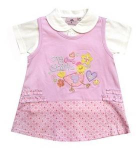 China Pink Silk soft Cotton Kids Cotton Children Pajamas, Toddler Baby Dressing Gown on sale