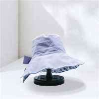 Wholesale Female Wide Brim Fishing Bucket Hat With Big Bowknot from china suppliers