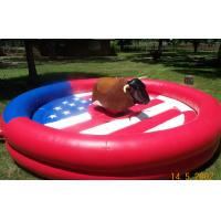 Wholesale Round Inflatable Mechanical Bull , PVC Tarpaulin Inflatable Mechanical Bull Ride Game from china suppliers