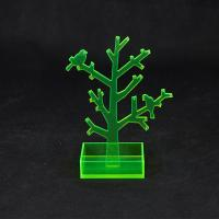 Wholesale Translucent Green Acrylic Jewellery Display Stands With Tree Shape from china suppliers