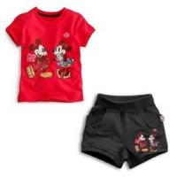 Wholesale Kids Clothes100% Cotton Children Cartoon Clothing Roses T-Shirt + Shorts Suit from china suppliers
