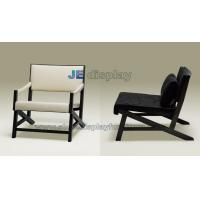 Wholesale Italy leather leisure sofa made by  black ash solid wood structure upholstery furniture from china suppliers
