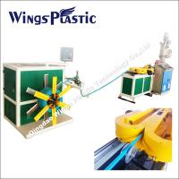 Wholesale PE, PP ,PVC single wall corrugated pipe extrusion line with high speed stable running from china suppliers