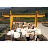 Durable Double Girder Gantry Crane 40 Ton Rail Low Maintenance Marble Cabin for sale