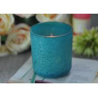 Wholesale Beautiful Wedding Gift Feather Painted Glass Candle Holders Decorative Candle Jars from china suppliers