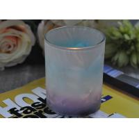 Wholesale Unique Design Glass Candle Holders Feather Painted Candle Glass Jars from china suppliers