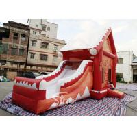 Commercial grade inflatable Christmas jumping castle with slide for kids and for sale