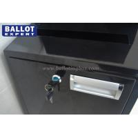 Quality Precision Stainless Steel Metal Suggestion Boxes , Lockable Ballot Box for sale