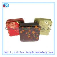 Wholesale elegant printed square chocolate tin can from china suppliers