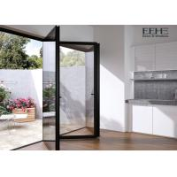Wholesale Weatherstripping Grey Aluminium Folding Doors For Patio Exterior 2.0mm Thickness from china suppliers