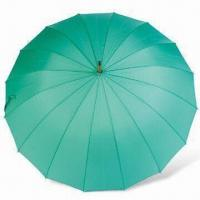 Buy cheap 56cm Manual Open Solid Stick Umbrella with 16K Full Fiberglass Ribs from wholesalers