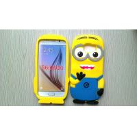 Buy cheap Yellow Minion Samsung Galaxy S6 cover for G9200 , Engranved silicone protective case from Wholesalers