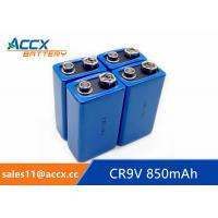 Quality CR9V 850mAh LiMnO2 battery for fire detector, nonrechargeable battery 9V battery for sale