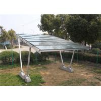 Wholesale HDG Pole Mounts Solar Carport Structures , 60m/S Wind Load Solar Charging Carport from china suppliers